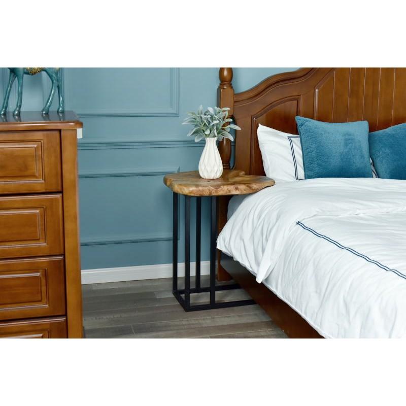 Tavolino, ricca in metallo e legno del fascio di cedro (naturale) - image 42740