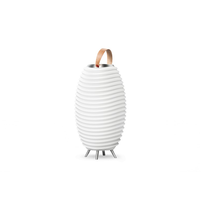 Lampe LED seau à champagne haut-parleur enceinte bluetooth KOODUU SYNERGIE 65PRO (blanc)