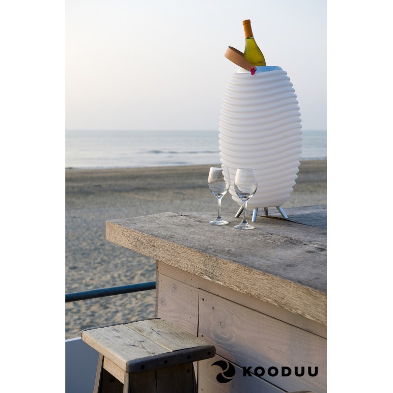 Lampada LED secchio champagne incinta altoparlante bluetooth KOODUU sinergia 65PRO (bianco) - image 42871