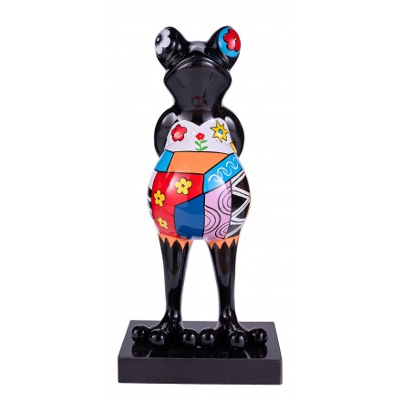 Statue design decorative sculpture frog PSYCHEDELIC resin H68 (multicolor)