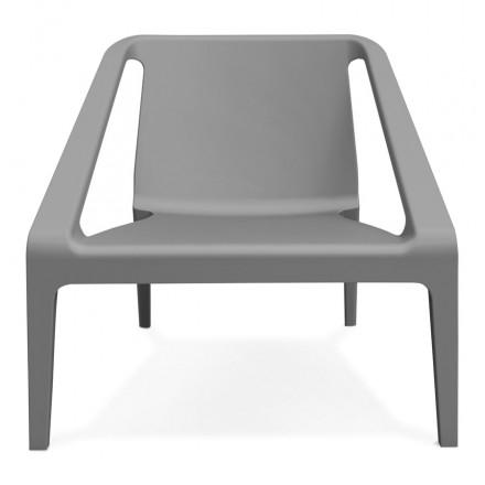 SUNY-diseño relajarse silla de jardín (gris oscuro)