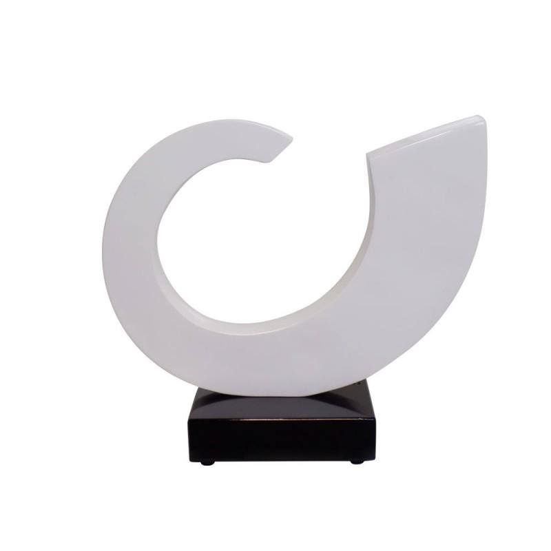 Statue sculpture décorative design enceinte Bluetooth SUN en résine (Blanc) - image 42940
