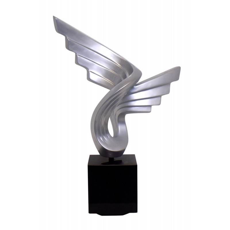 Statue sculpture décorative design enceinte Bluetooth SMALL WING en résine (Argent) - image 42947
