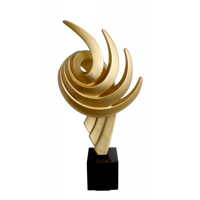 Statue sculpture décorative design enceinte Bluetooth THE PASTING en résine (Doré)