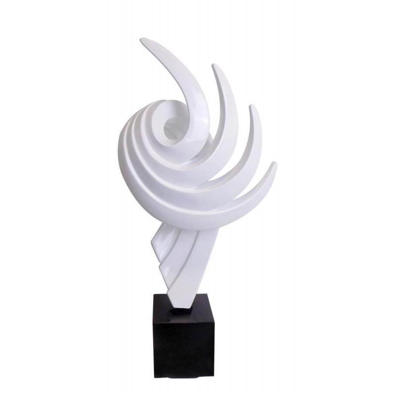 Statue sculpture décorative design enceinte Bluetooth THE PASTING en résine (Blanc)