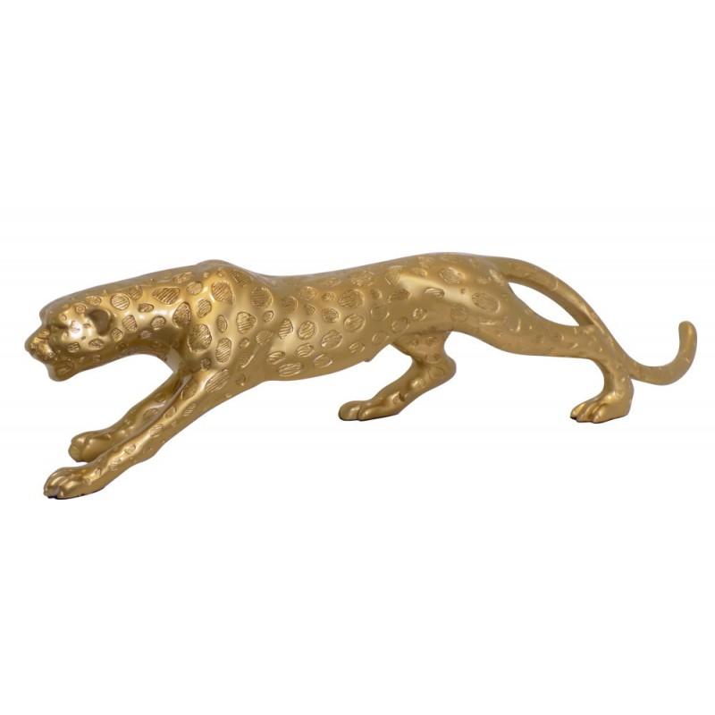 Statua scultura decorativa disegno incinta Bluetooth LEOPARD in resina (Golden) - image 43026