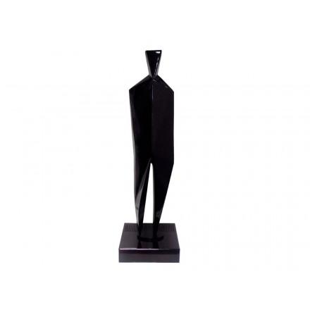 Statua disegno scultura decorativa incinta Bluetooth HUMAN BODY in resina (nero)