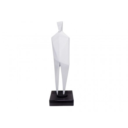 Statua disegno scultura decorativa incinta Bluetooth HUMAN BODY in resina (bianco)