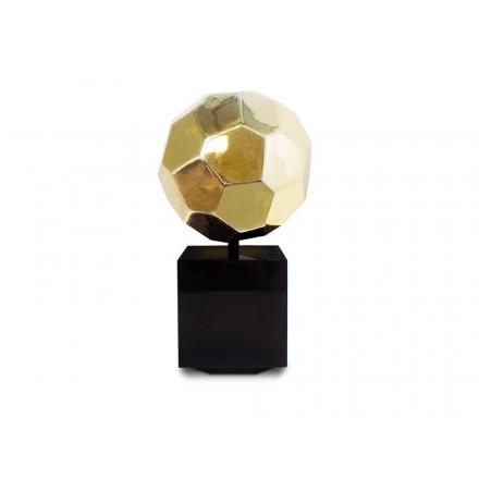 Statua disegno scultura decorativa incinta Bluetooth BALLON in resina (Golden)