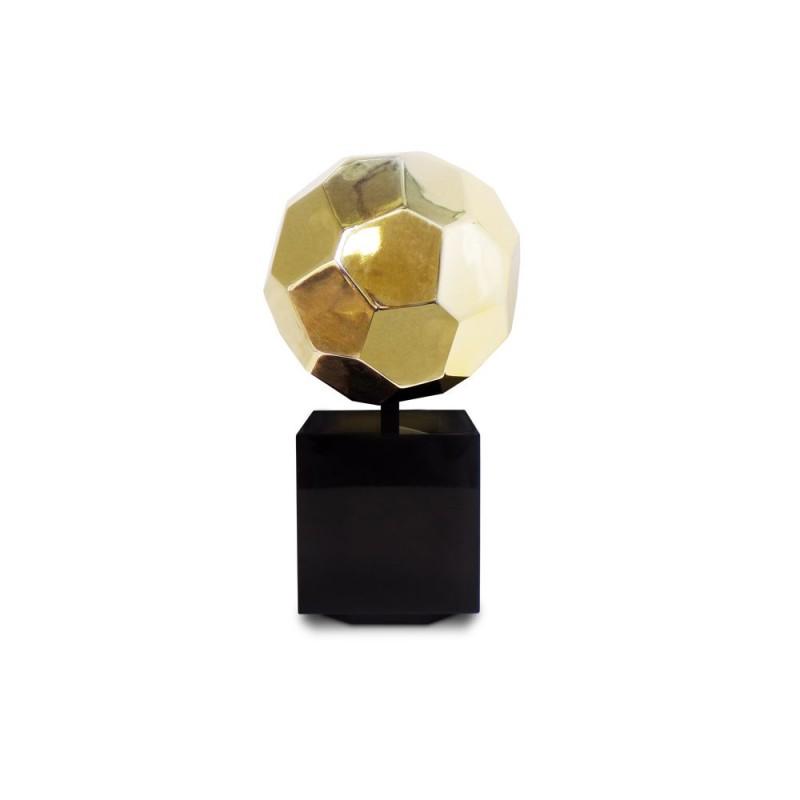 Diseño de escultura decorativa estatua embarazada Bluetooth BALLON en resina (oro) - image 43035