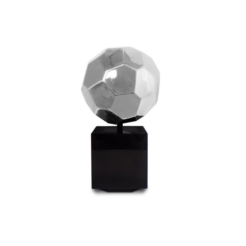 Statua disegno scultura decorativa incinta Bluetooth BALLON in resina (argento) - image 43036
