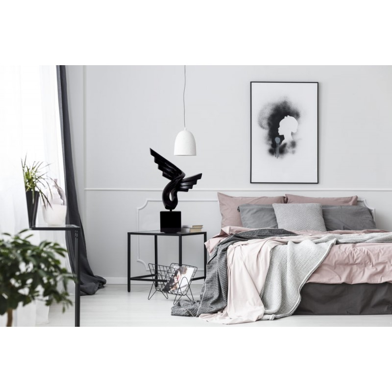 Statua disegno scultura decorativa incinta Bluetooth SMALL WING resina (nero) - image 43056