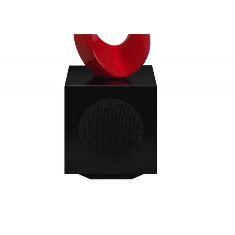 Statua disegno scultura decorativa incinta Bluetooth MUSICAL NOTE in resina (rosso) - image 43068