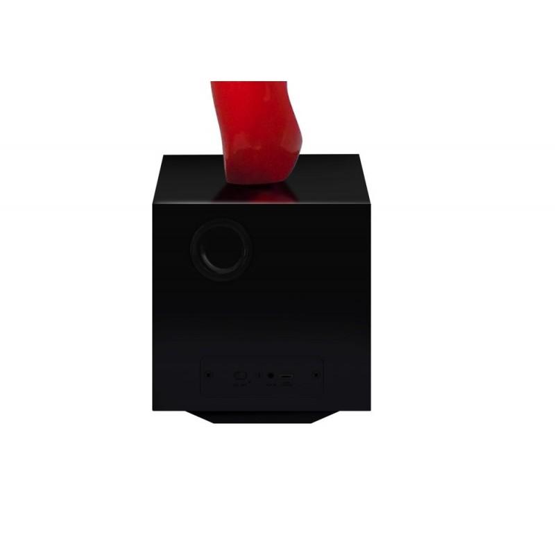 Statua disegno scultura decorativa incinta Bluetooth MORNING SONG in resina (rosso) - image 43069