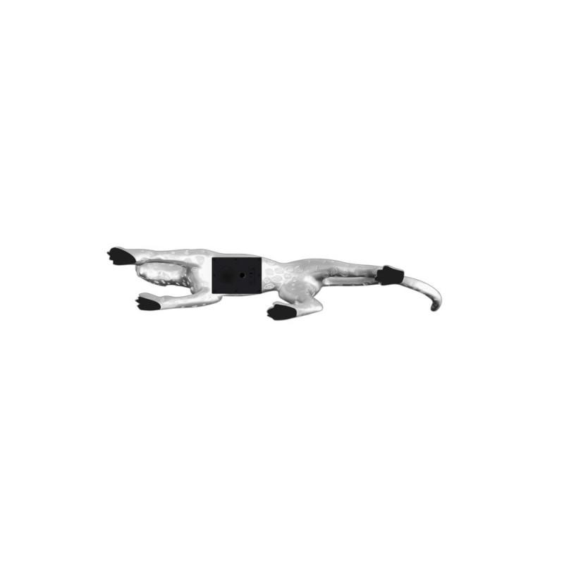 Statua disegno scultura decorativa incinta Bluetooth LEOPARD XL resina (argento) - image 43081