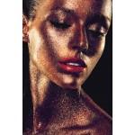 Woman VISAGE glass table (80 x 120 cm) (golden)