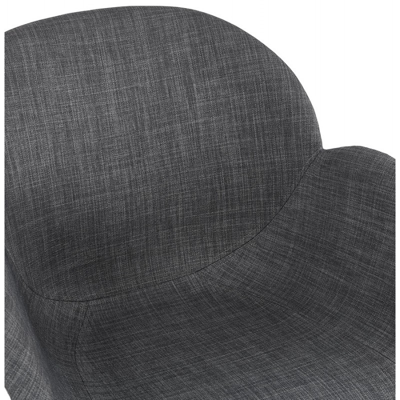 Scandinavian design chair with CALLA armrests in black foot fabric (anthracite grey) - image 43125