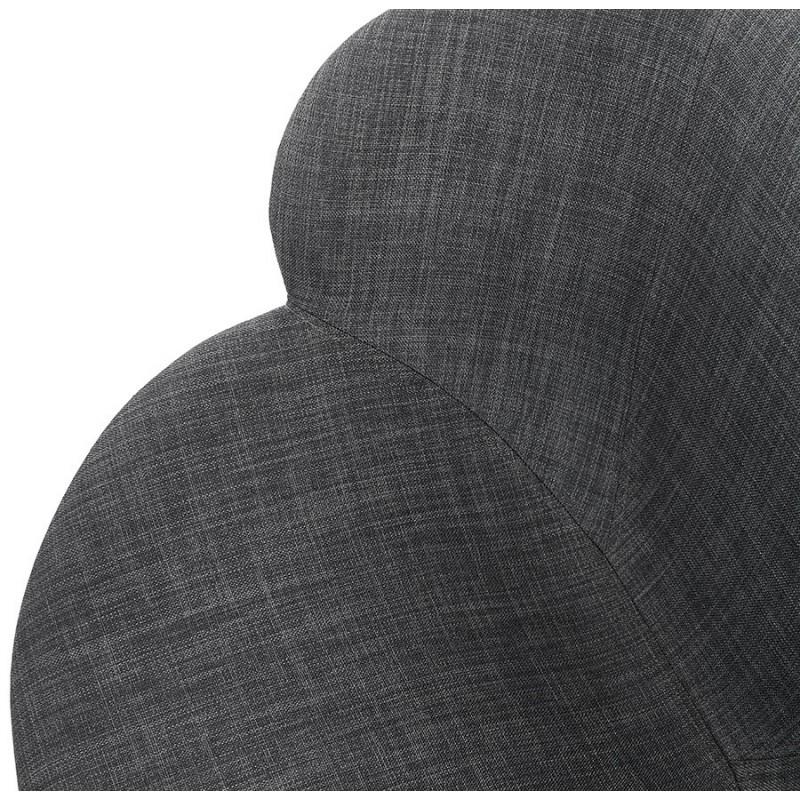 Chaise design scandinave avec accoudoirs CALLA en tissu pieds couleur noire (gris anthracite) - image 43127
