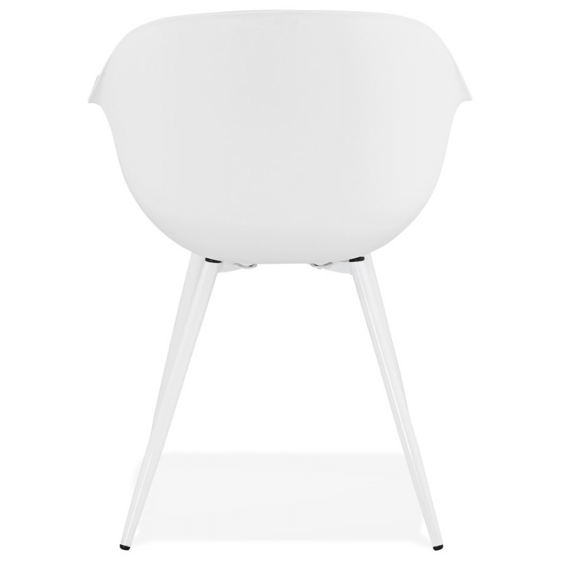 Silla de diseño escandinavo con apoyabrazos de polipropileno COLZA (blanco) - image 43140