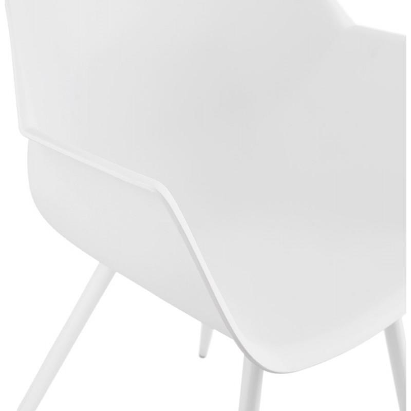 Silla de diseño escandinavo con apoyabrazos de polipropileno COLZA (blanco) - image 43144