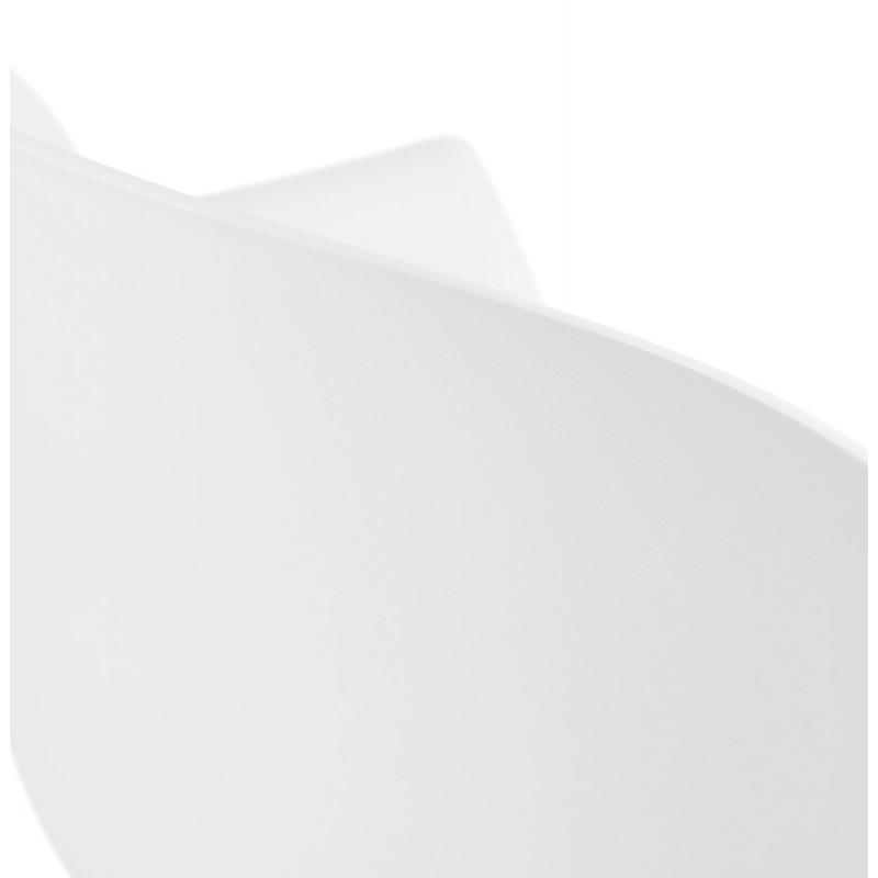 Silla de diseño escandinavo con apoyabrazos de polipropileno COLZA (blanco) - image 43145