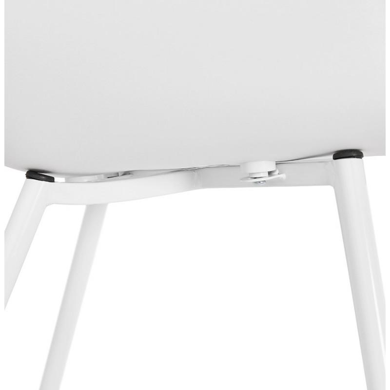 Chaise design scandinave avec accoudoirs COLZA en polypropylène (blanc) - image 43146