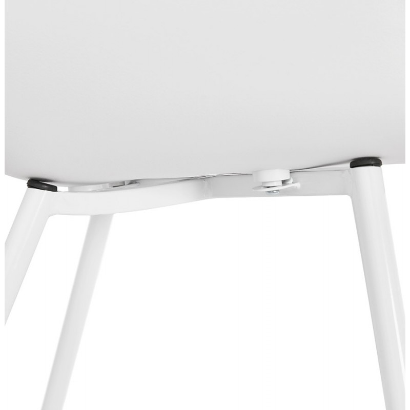 Silla de diseño escandinavo con apoyabrazos de polipropileno COLZA (blanco) - image 43146