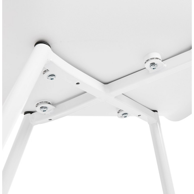 Scandinavian design chair with COLZA polypropylene armrests (white) - image 43147