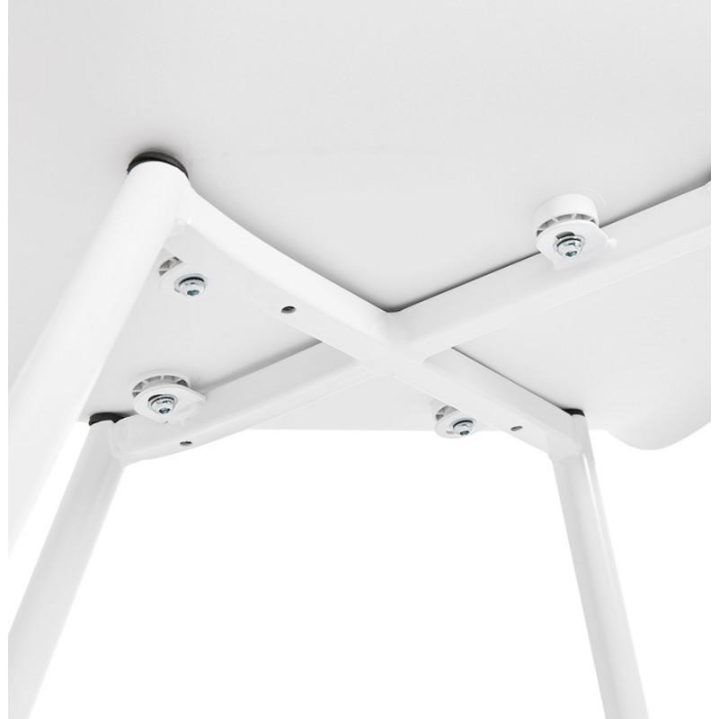 Silla de diseño escandinavo con apoyabrazos de polipropileno COLZA (blanco) - image 43147