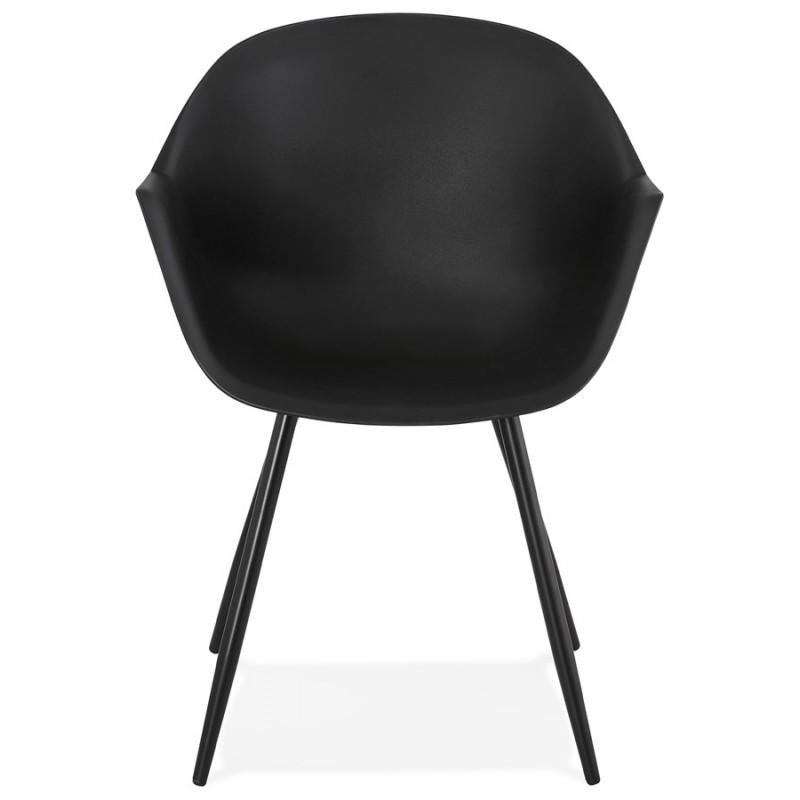 Chaise design scandinave avec accoudoirs COLZA en polypropylène (noir) - image 43151