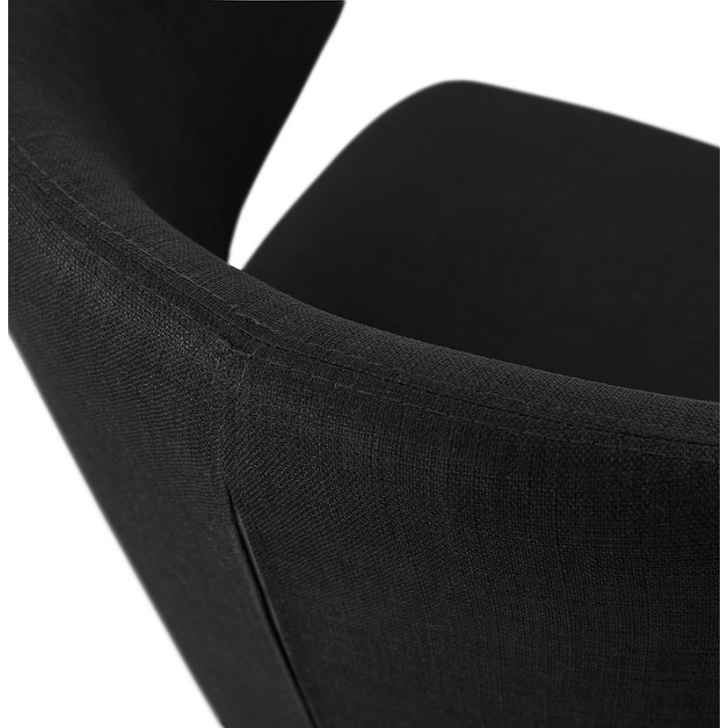 YASUO design chair in natural-coloured wooden footwear fabric (black) - image 43196