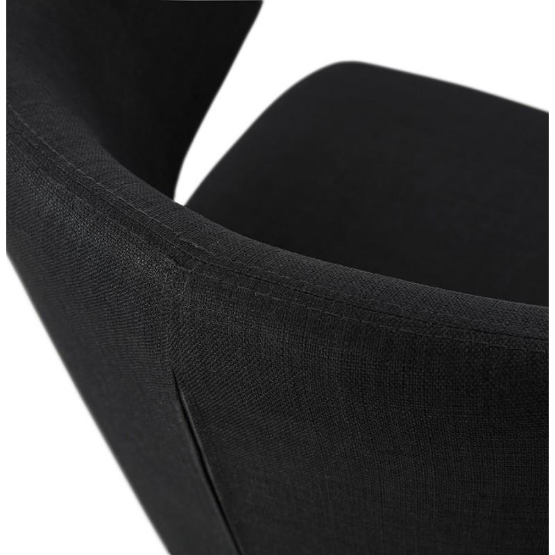 Fauteuil design YASUO en tissu pieds bois couleur naturelle (noir) - image 43196