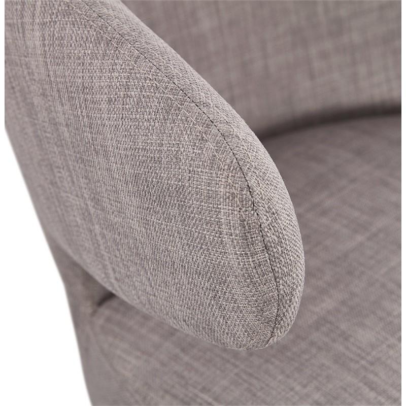 Fauteuil design YASUO en tissu pieds bois couleur naturelle (gris clair) - image 43207
