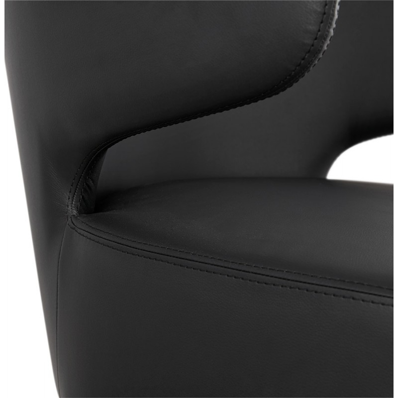 YASUO design chair in polyurethane feet wood natural color (black) - image 43221