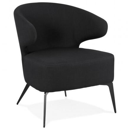 YASUO Designstuhl aus schwarzem Metallfußgewebe (schwarz)