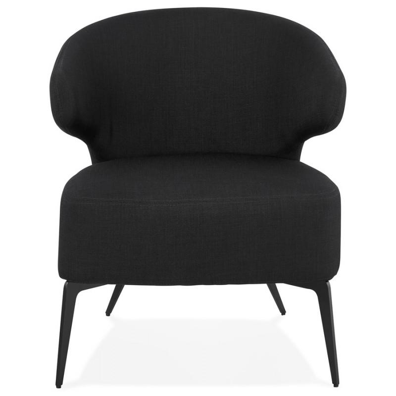 YASUO Designstuhl aus schwarzem Metallfußgewebe (schwarz) - image 43225