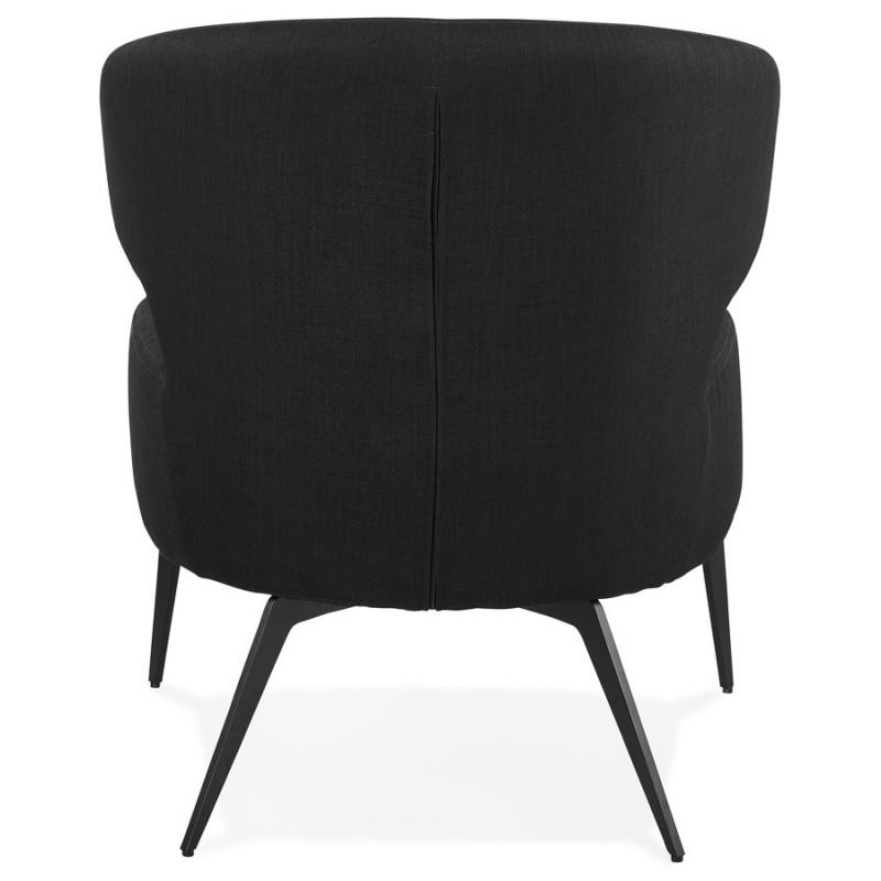 Silla de diseño YASUO en tejido de pie de metal negro (negro) - image 43228