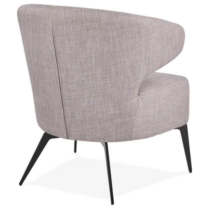 YASUO Designstuhl aus schwarzem Metallfußgewebe (hellgrau) - image 43239
