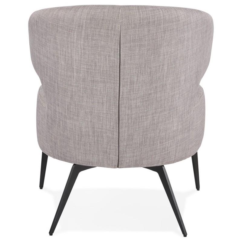YASUO Designstuhl aus schwarzem Metallfußgewebe (hellgrau) - image 43240
