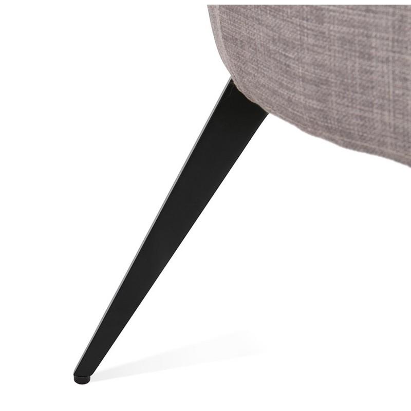 Sedia YASUO design in tessuto piede in metallo nero (grigio chiaro) - image 43246
