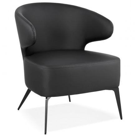 YASUO design chair in polyurethane feet metal black (black)