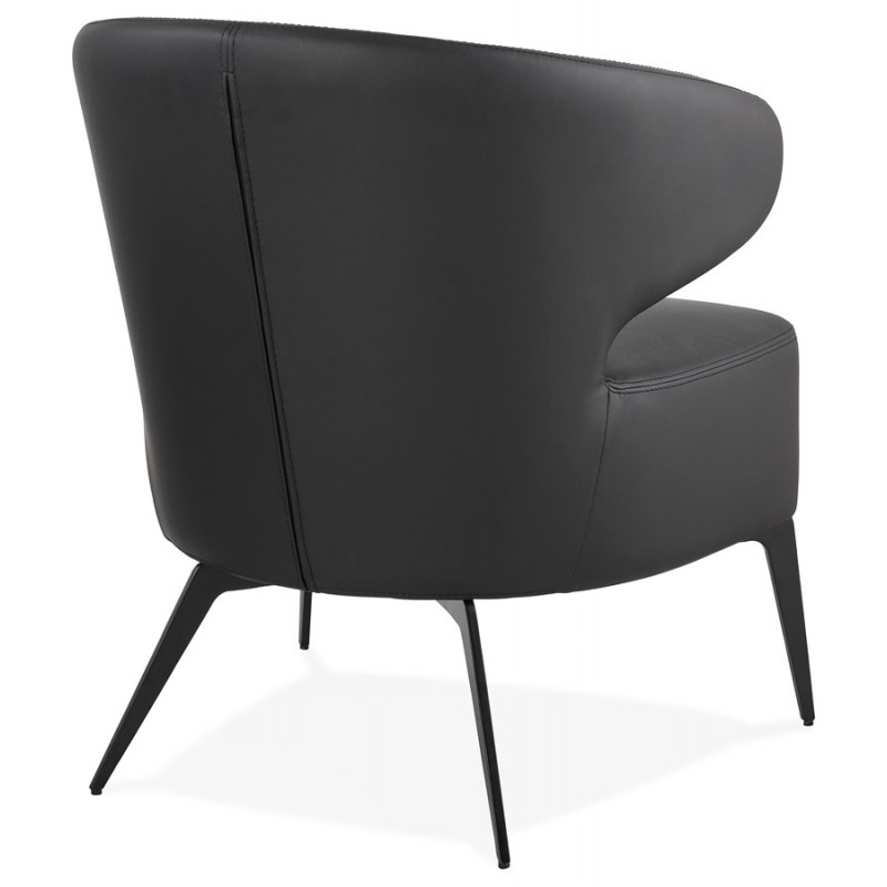 YASUO design chair in polyurethane feet metal black (black) - image 43251
