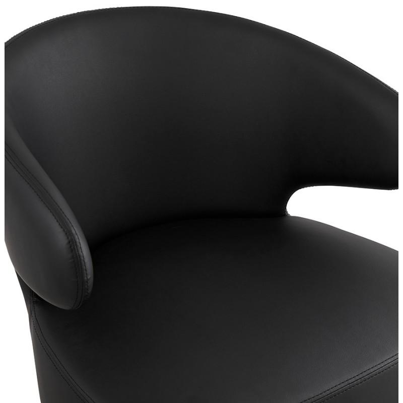 Fauteuil design YASUO en polyuréthane pieds métal couleur noire (noir) - image 43253
