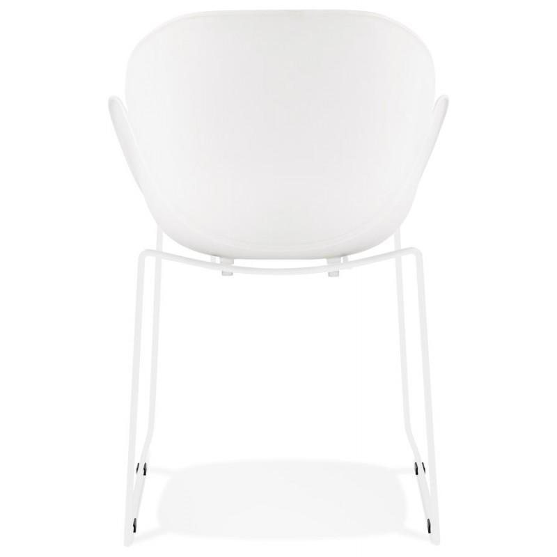 Chaise design CIRSE en polypropylène pieds métal couleur blanche (blanc) - image 43264
