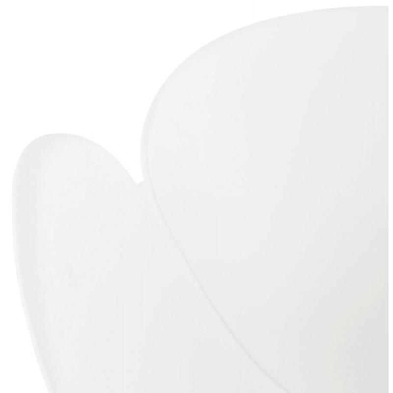 Chaise design CIRSE en polypropylène pieds métal couleur blanche (blanc) - image 43266