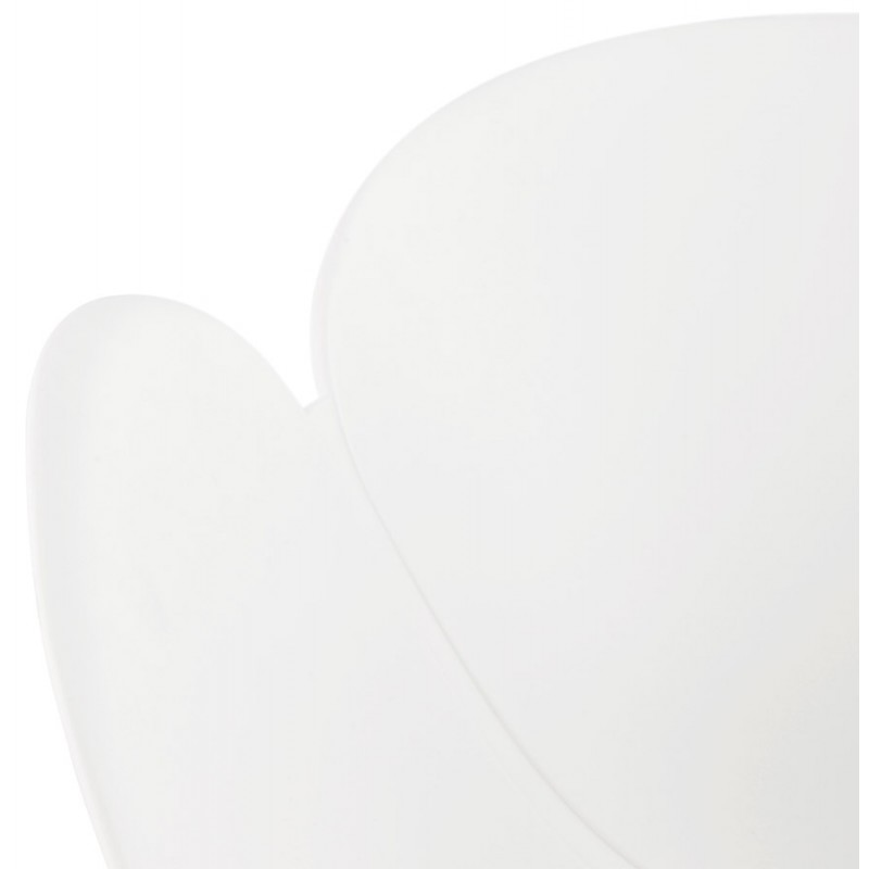 Silla de diseño CIRSE en patas de metal blanco de polipropileno (blanco) - image 43266