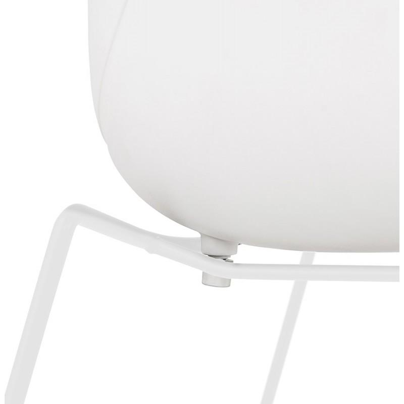 Chaise design CIRSE en polypropylène pieds métal couleur blanche (blanc) - image 43269