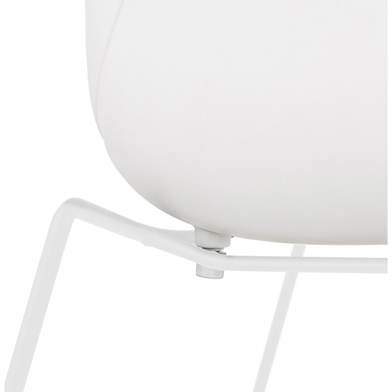 Silla de diseño CIRSE en patas de metal blanco de polipropileno (blanco) - image 43269
