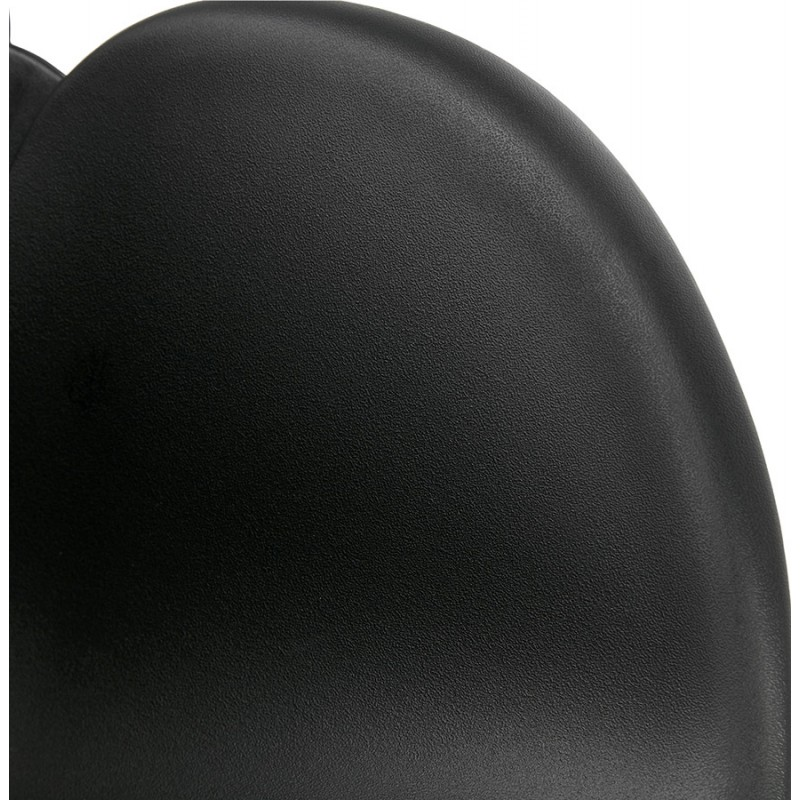 Silla de diseño CIRSE en patas de metal negro de polipropileno (negro) - image 43278