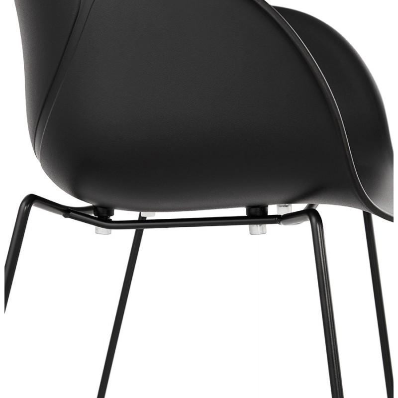 Chaise design CIRSE en polypropylène pieds métal couleur noire (noir) - image 43279